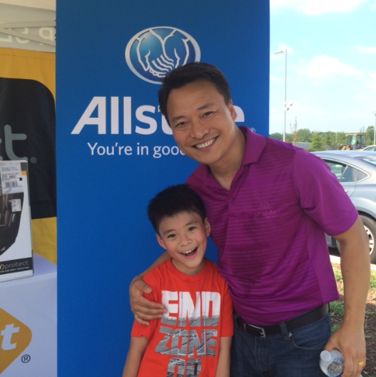 Jason Wong - Car Seat Safety event representing Allstate with my son Alex!