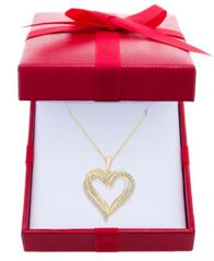"Image of Diamond Heart Pendant 18"" Necklace (1/2 ct. t.w.)"