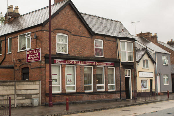O W Ellis Funeral Directors in Shotton, Deeside.