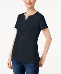 Image of Karen Scott Henley T-Shirt, Created for Macy's