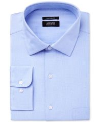 Image of Alfani Men's Classic Fit Performance Twill Textured Dress Shirt, Created for Macy's