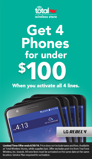 4 Phones for under $100 when you activate all 4 lines with Total Wireless