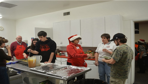 A great Lions event. The blind Christmas Party where my family lends a hand!