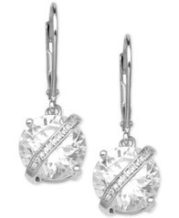 Image of Giani Bernini Cubic Zirconia Wrapped Drop Earrings in Sterling Silver, Created for Macy's