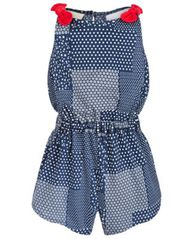 Image of First Impressions Baby Girls Patchwork Cotton Romper, Created for Macy's