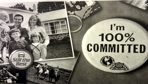 "A Pin that says ""I am 100% committed"""