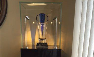 Our Farmers® Blue Vase Award - Proudly displayed in our office.