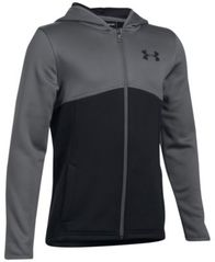 Image of Under Armour Colorblocked Full-Zip Hoodie, Big Boys (8-20)