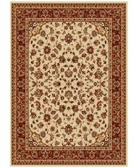 "Image of CLOSEOUT! KM Home Pesaro Kashan Ivory/Brick 7'9"" x 11' Area Rug"