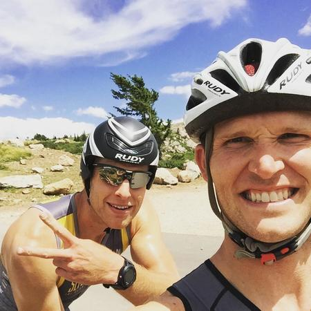 Cycling with my Friend and customer :)
