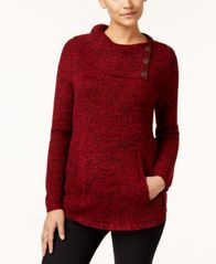 Image of Style & Co Envelope-Neck Sweater, Created for Macy's