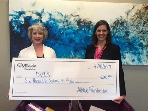 Sue Williams - Allstate Foundation Helping Hands Grant for Domestic Violence Intervention Services (DVIS)