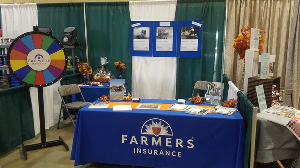 Farmers booth at promotional event.