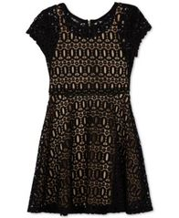 Image of BCX Big Girls Fit & Flare Lace Dress