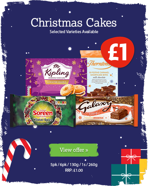 Christmas cakes offer available until 10th December