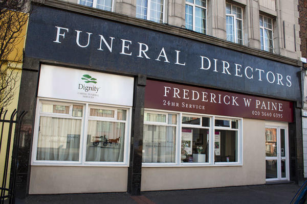 Frederick W Paine Funeral Directors in Rose Hill, Sutton.