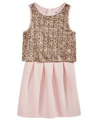 Image of Epic Threads Pink Popover Dress, Big Girls, Created for Macy's