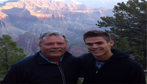 Glenn Grossman and Mark Grossman, hiking Grand Canyon AZ, Rim-to-Rim, 2012