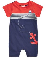 Image of First Impressions Baby Boys Cotton Nautical Romper, Created for Macy's