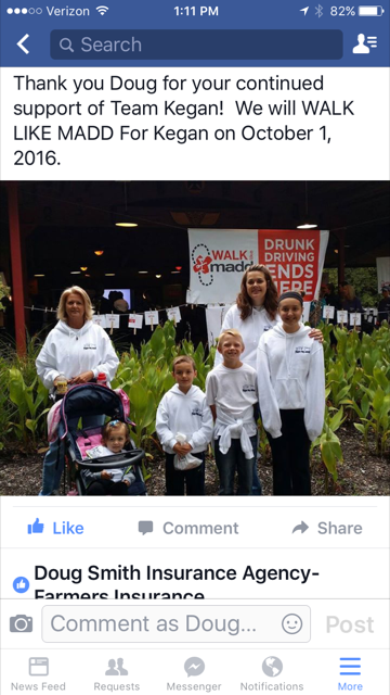 Walk like MADD event in 2016