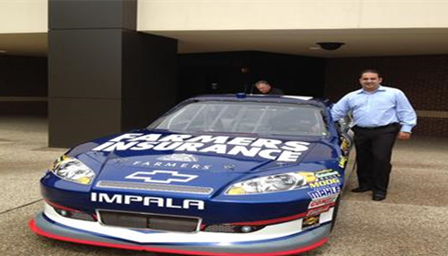 At Grand Rapids, Michigan. Admiring Kasey Kahne #5 Nascar sponsored by Farmers®.