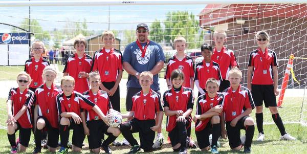 Riverton Rampage 2016 U12 coed Soccer team.