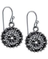 Image of 2028 Silver-Tone Crystal Drop Earrings, a Macy's Exclusive Style
