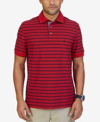 Image of Nautica Men's Classic-Fit Striped Performance Polo
