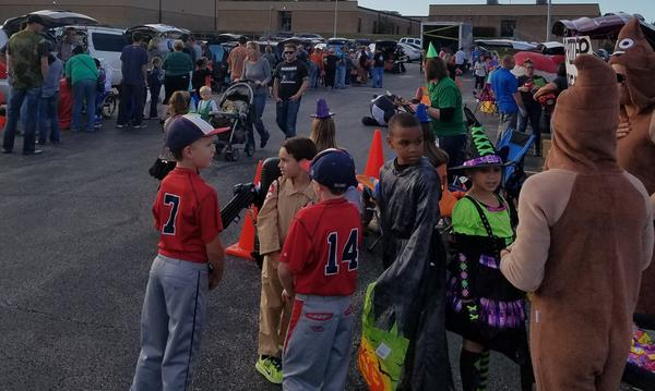 Nearly 600 students from Pathfinder Elementary attended this year's Trunk or Treat Event!