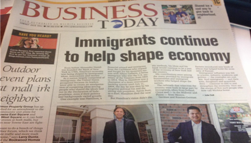 Wichita Eagle Article on Immigrants having small business July 4th, 2013