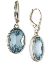 Image of DKNY Silver-Tone Colored Crystal Drop Earrings, Created for Macy's