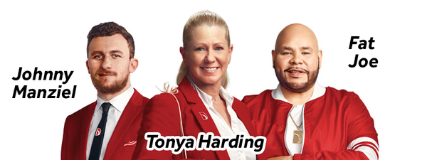 Direct Auto Insurance Spokespersons, Johnny Manziel, Tonya Harding and Fat Joe