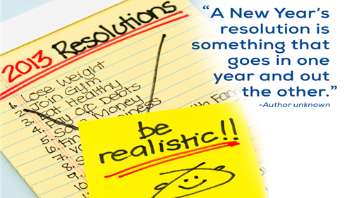 Have you started to develop your list of Resolutions for 2015?