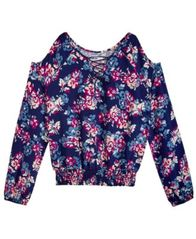 Image of Epic Threads Floral-Print Cold Shoulder Top, Big Girls, Created for Macy's