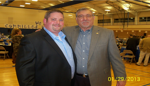 Ray Baggett and Outgoing Chamber President Jason Brown