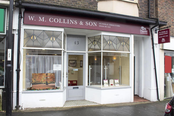 W M Collins & Son Funeral Directors in Burgess Hill, West Sussex.