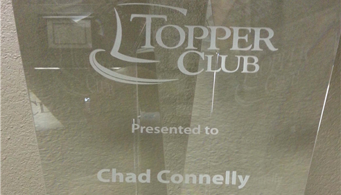 1st Topper Club.  Thanks to all my great clients!