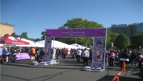Farmers at the March of Dimes Walk in Philadelphia