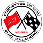 A logo for the local Corvette club of Enid