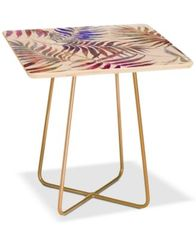 Image of Deny Designs Reeya Tropical White Square Side Table