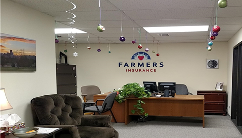 Our office in Englewood, Colorado, decorated around Christmas time.