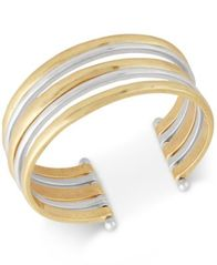 Image of Lucky Brand Two-Tone Multi-Row Cuff Bracelet
