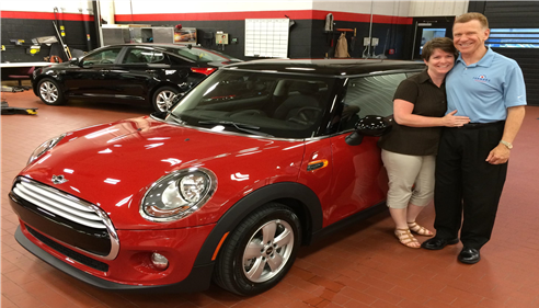 Grand prize winner of a 2014 Mini Cooper!