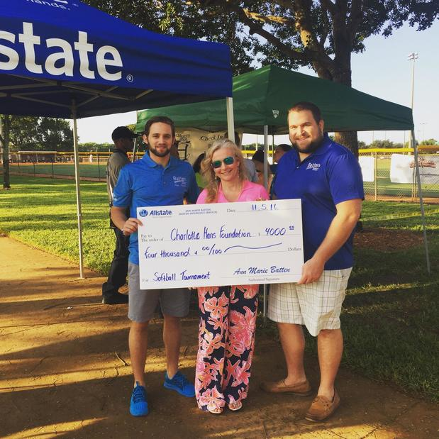 Ann-Marie Batten - Allstate raises money for Charlotte Hans Foundation