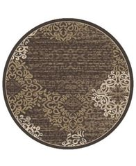 "Image of CLOSEOUT! KM Home Teramo Intrigue 7'10"" Round Area Rug"