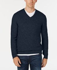 Image of Club Room Men's V-Neck Cashmere Sweater, Created for Macy's