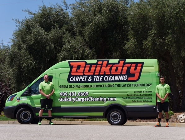 We have Quikdry Carpet Cleaning Business Covered<br>If the Vans not Green, The Carpets not Clean.<br>
