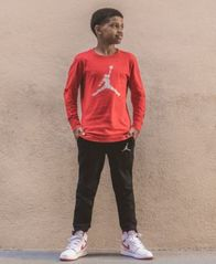 Image of Jordan Big Boys Speckled Jumpman Graphic Cotton T-Shirt