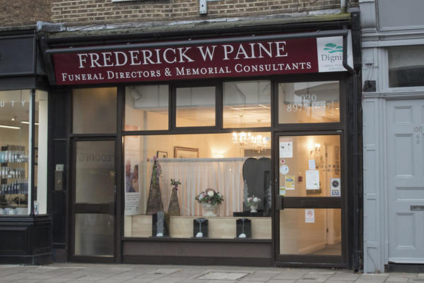 Frederick W Paine Funeral Directors in Teddington