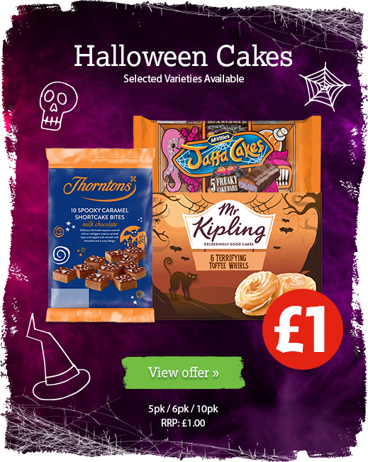 Halloween cakes available at local participating Nisa Stores